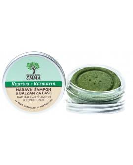 Zeliščni šampon in balzam za lase KOPRIVA - ROŽMARIN