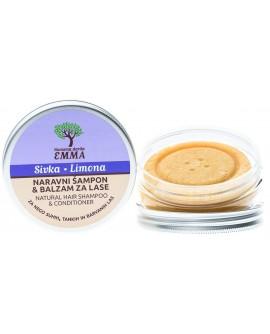 Zeliščni šampon in balzam za lase SIVKA - LIMONA