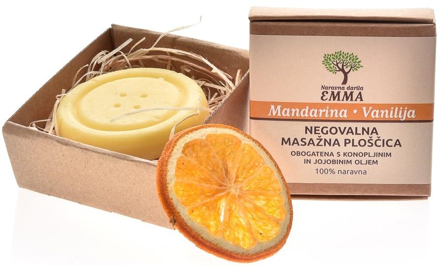 Masažna ploščica MANDARINA - VANILIJA