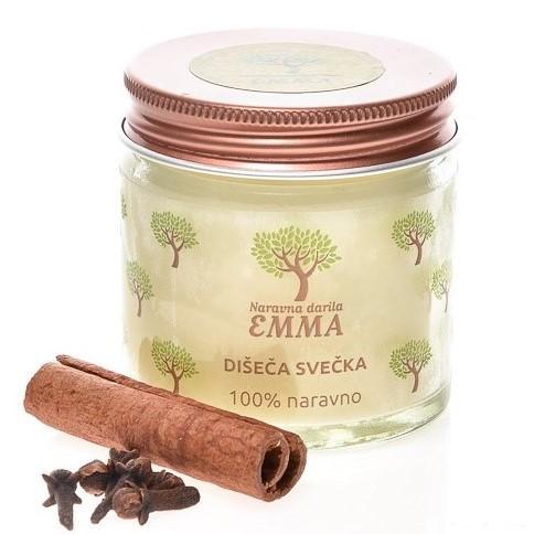 Naravna aromatična svečka CIMET - POMARANČA