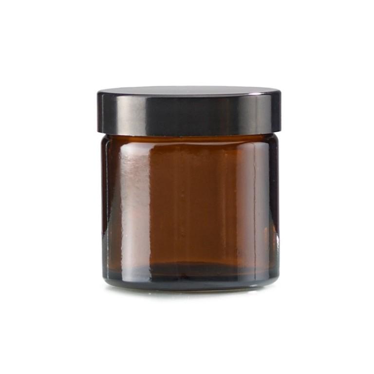 Stekleni lonček Amber 60ml