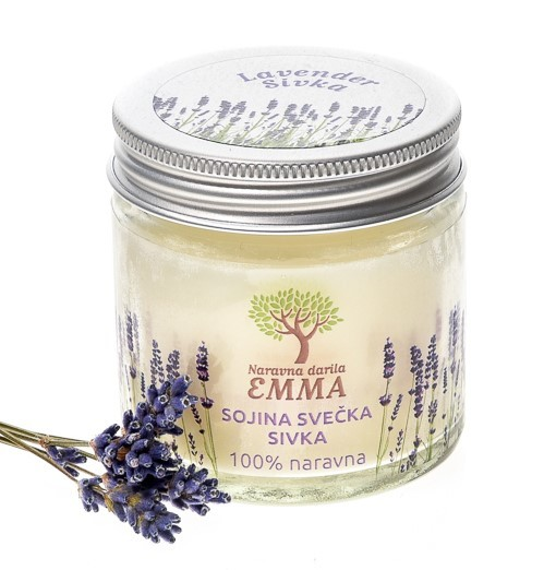 Naravna aromatična svečka SIVKA