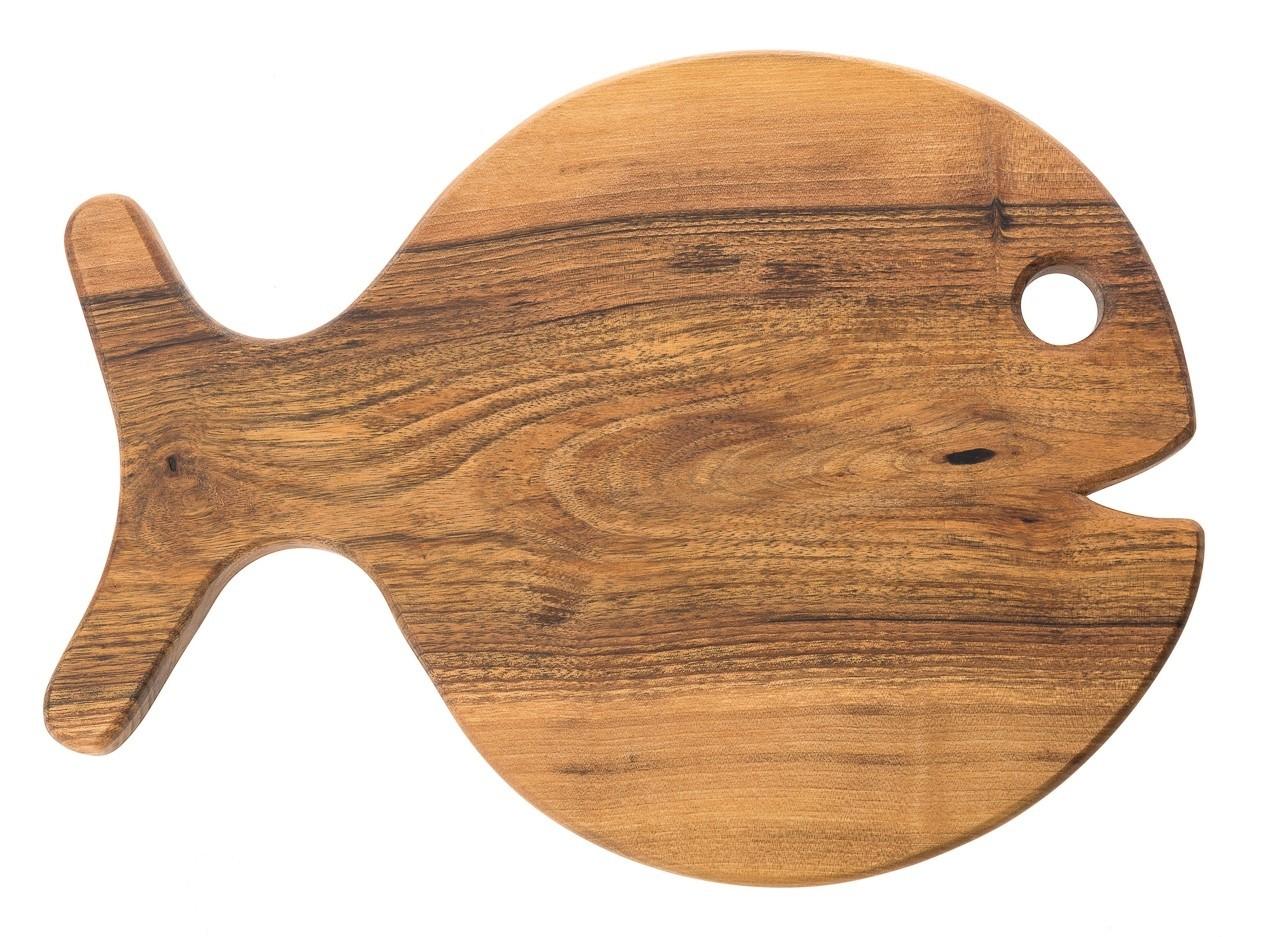 Lesena deska IZOLA (riba - okrogla)