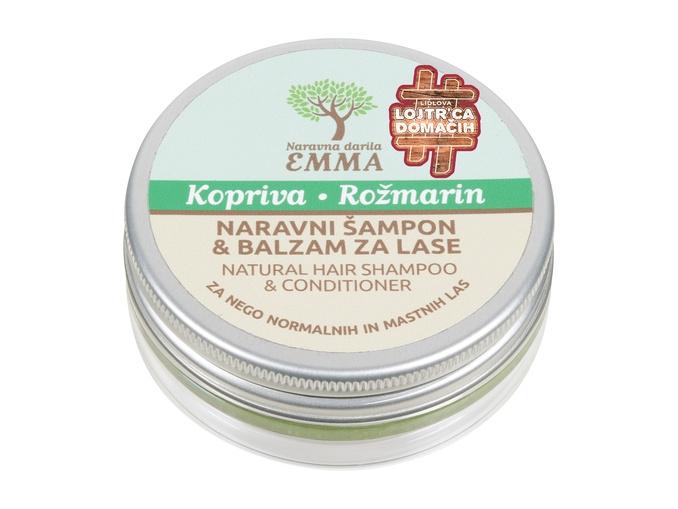 Naravni šampon in balzam za lase KOPRIVA-ROŽMARIN